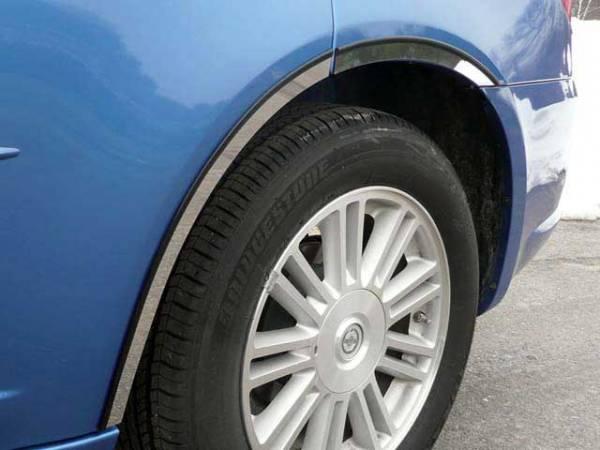 QAA - Chrysler Sebring 2007-2010, 4-door, Sedan (6 piece Stainless Steel Wheel Well Accent Trim With 3M adhesive installation and black rubber gasket edging.) WQ47780 QAA