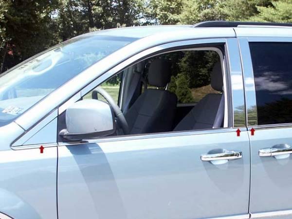 QAA - Chrysler Town & Country 2008-2016, 4-door, Minivan (6 piece Stainless Steel Pillar Post Trim ) PP48896 QAA
