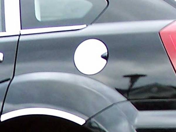 QAA - Dodge Caliber 2007-2012, 4-door, Hatchback (1 piece Stainless Steel Gas Door Cover Trim Warning: This is NOT a replacement cap. You MUST have existing gas door to install this piece ) GC47950 QAA
