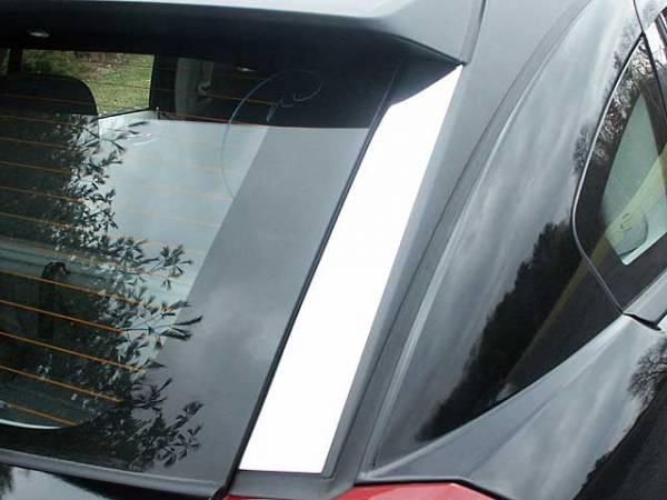QAA - Dodge Caliber 2007-2012, 4-door, Hatchback (2 piece Stainless Steel Rear Window Trim ) RW47950 QAA