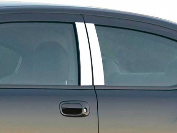 QAA - Dodge Charger 2006-2010, 4-door, Sedan (4 piece Stainless Steel Pillar Post Trim ) PP46910 QAA