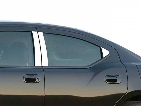 QAA - Dodge Charger 2006-2010, 4-door, Sedan (6 piece Stainless Steel Pillar Post Trim ) PP46911 QAA
