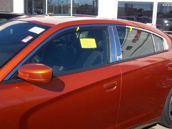 QAA - Dodge Charger 2011-2020, 4-door, Sedan (4 piece Stainless Steel Window Trim Package Includes Upper Trim only, NO Pillar Posts, NO window sills. ) WP51912 QAA