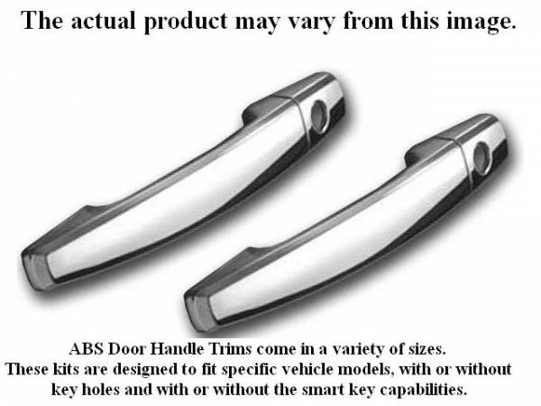 QAA - Dodge Challenger 2011-2020, 2-door, Coupe (4 piece Chrome Plated ABS plastic Door Handle Cover Kit Includes smart key access ) DH51910 QAA