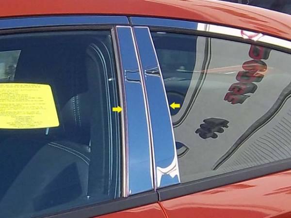 QAA - Dodge Charger 2011-2020, 4-door, Sedan (4 piece Stainless Steel Pillar Post Trim ) PP51910 QAA