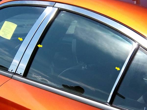QAA - Dodge Charger 2011-2020, 4-door, Sedan (6 piece Stainless Steel Pillar Post Trim ) PP51911 QAA