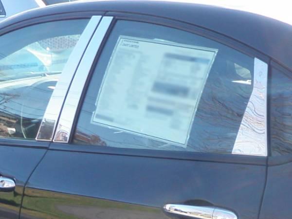 QAA - Dodge Dart 2013-2016, 4-door, Sedan (6 piece Stainless Steel Pillar Post Trim ) PP53906 QAA