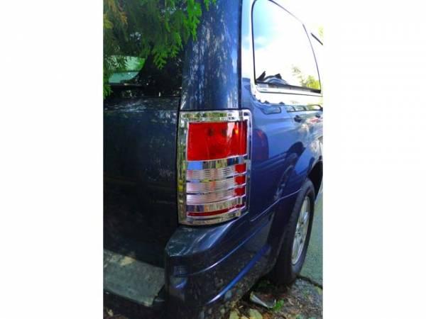 QAA - Dodge Grand Caravan 2008-2010, 4-door, Minivan (2 piece Chrome Plated ABS plastic Tail Light Bezels ) TL48895 QAA