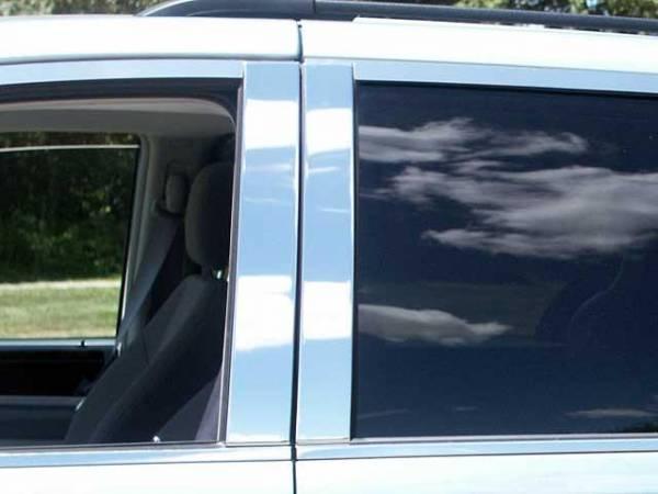 QAA - Dodge Grand Caravan 2008-2020, 4-door, Minivan (4 piece Stainless Steel Pillar Post Trim ) PP48895 QAA