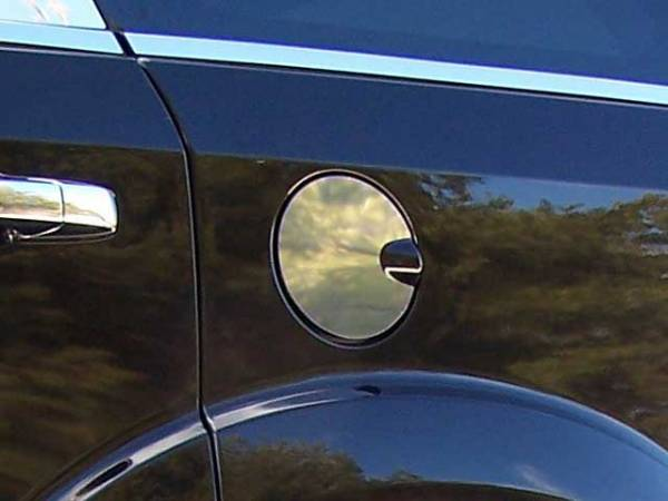 QAA - Chrysler Aspen 2008-2009, 4-door, SUV (1 piece Stainless Steel Gas Door Cover Trim Warning: This is NOT a replacement cap. You MUST have existing gas door to install this piece ) GC49945 QAA