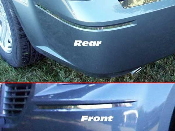 "QAA - Dodge Magnum 2005-2008, 4-door, Wagon (4 piece Stainless Steel Bumper Package 0.375"" Width Front and Rear Insert ) BI45920 QAA"