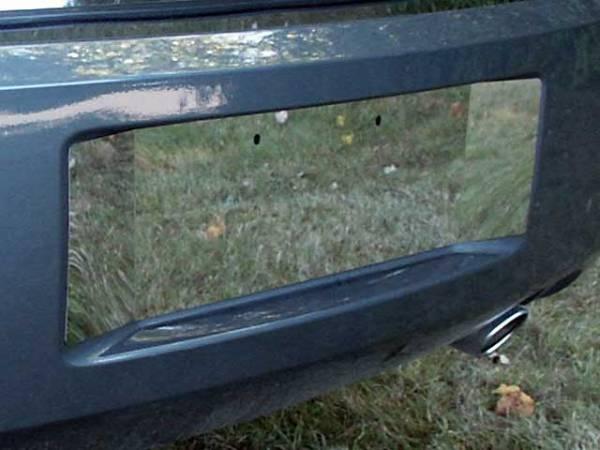 QAA - Dodge Magnum 2005-2008, 4-door, Wagon (1 piece Stainless Steel License Plate Bezel With contoured extentions ) LP45921 QAA