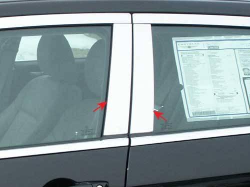 QAA - Dodge Magnum 2005-2008, 4-door, Wagon (4 piece Stainless Steel Pillar Post Trim ) PP45760 QAA