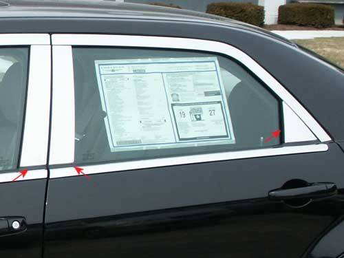 QAA - Dodge Magnum 2005-2008, 4-door, Wagon (6 piece Stainless Steel Pillar Post Trim ) PP45761 QAA