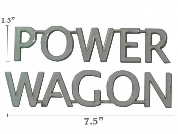 "QAA - Dodge Magnum 2005-2008, 4-door, Wagon (2 piece Stainless Steel ""POWER WAGON"" decal 1.5"" Height X 7.5"" Width, Linked letters ""POWER"" and ""WAGON"" ) SGR45920 QAA"