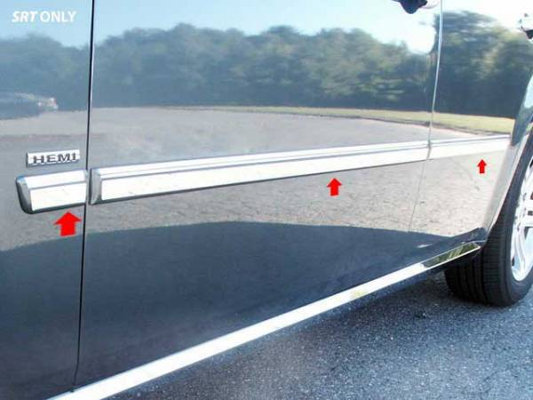 "QAA - Dodge Magnum 2005-2008, 4-door, Wagon (6 piece Stainless Steel Rocker Panel Trim, Insert Kit 1"" Width Side Molding.) TH45922 QAA"