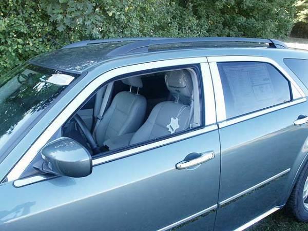 QAA - Dodge Magnum 2005-2008, 4-door, Wagon (14 piece Stainless Steel Window Trim Package Includes Upper Trim, Pillar Posts and Window Sills - FULL Package ) WP45920 QAA