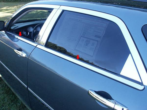 QAA - Dodge Magnum 2005-2008, 4-door, Wagon (4 piece Stainless Steel Window Sill Trim Set ) WS45920 QAA