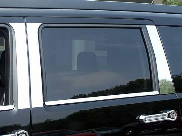 QAA - Dodge Nitro 2007-2011, 4-door, SUV (6 piece Stainless Steel Pillar Post Trim ) PP47941 QAA
