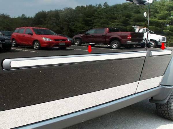 "QAA - Dodge Nitro 2007-2011, 4-door, SUV (4 piece Stainless Steel Rocker Panel Trim, Insert Kit 1"" Width Side Molding.) TH47941 QAA"
