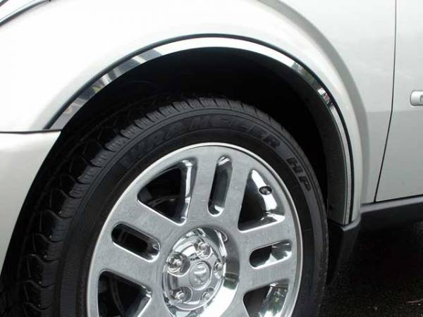 QAA - Dodge Nitro 2007-2011, 4-door, SUV (6 piece Stainless Steel Wheel Well Accent Trim With 3M adhesive installation and black rubber gasket edging.) WQ47940 QAA