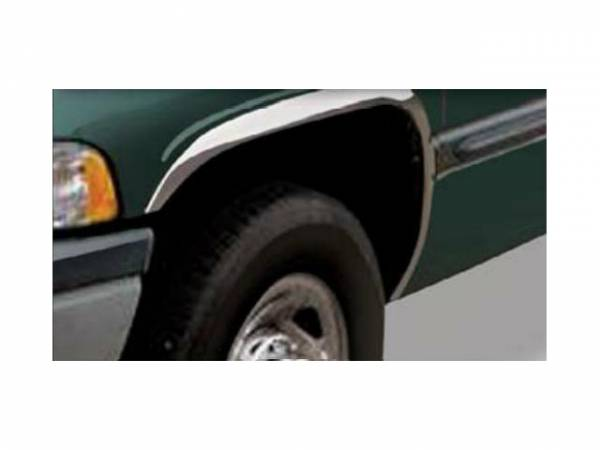QAA - Dodge Ram 1994-2001, 2-door, 4-door, Pickup Truck (4 piece Molded Stainless Steel Wheel Well Fender Trim Molding Short Style Clip on or screw in installation, Lock Tab and screws, hardware included.) WZ34920 QAA