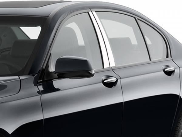 QAA - BMW 7 Series 2009-2015, 4-door, Sedan (4 piece Stainless Steel Pillar Post Trim ) PP29917 QAA