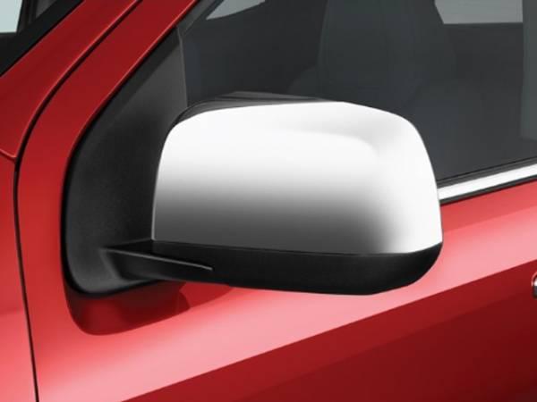 QAA - Chevrolet Colorado 2015-2020, 4-door, Pickup Truck (2 piece Chrome Plated ABS plastic Mirror Cover Set Top Half, Snap on replacement set ) MC55151 QAA