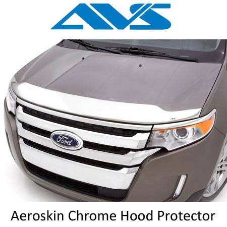 AVS - AVS Aeroskins Chrome Hood Shields