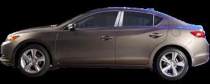 QAA - Acura ILX 2013-2020, 4-door, Sedan (6 piece Stainless Steel Pillar Post Trim ) PP13206 QAA - Image 2