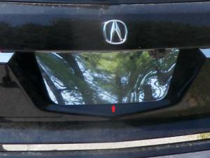 QAA - Acura MDX 2007-2013, 4-door, SUV (1 piece Stainless Steel License Plate Bezel ) LP27297 QAA