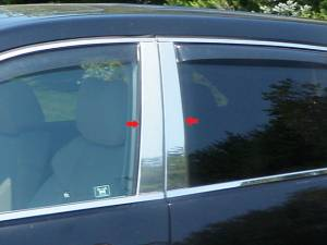 QAA - Acura MDX 2007-2013, 4-door, SUV (4 piece Stainless Steel Pillar Post Trim ) PP27297 QAA