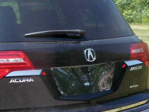 Chrome Trim - Trunk Lid Accents - QAA - Acura MDX 2007-2013, 4-door, SUV (2 piece Stainless Steel Trunk Hatch Accent Trim ) TP27297 QAA