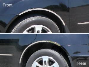 Chrome Trim - Wheel Well/Fender Trim - QAA - Acura MDX 2007-2013, 4-door, SUV (4 piece Stainless Steel Wheel Well Accent Trim With 3M adhesive installation and black rubber gasket edging.) WQ27297 QAA