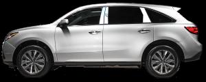 QAA - Acura MDX 2014-2020, 4-door, SUV (4 piece Stainless Steel Pillar Post Trim ) PP14297 QAA - Image 2