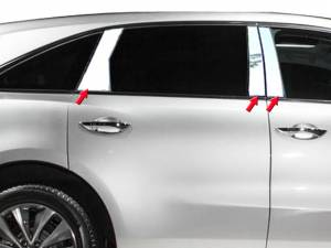 QAA - Acura MDX 2014-2020, 4-door, SUV (6 piece Stainless Steel Pillar Post Trim ) PP14298 QAA