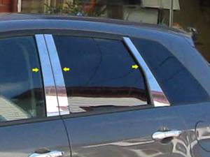 QAA - Acura RDX 2007-2012, 4-door, SUV (6 piece Stainless Steel Pillar Post Trim ) PP27271 QAA