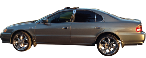 QAA - Acura TL 1999-2003, 4-door, Sedan (6 piece Stainless Steel Pillar Post Trim ) PP22296 QAA - Image 2