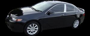 QAA - Acura TSX 2004-2008, 4-door, Sedan (4 piece Stainless Steel Pillar Post Trim ) PP26290 QAA - Image 2