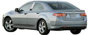 QAA - Acura TSX 2009-2014, 4-door, Sedan (4 piece Stainless Steel Pillar Post Trim ) PP29290 QAA - Image 2