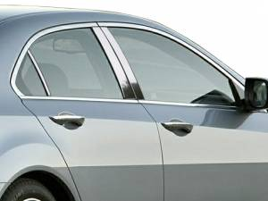 QAA - Acura TSX 2009-2014, 4-door, Sedan (6 piece Stainless Steel Pillar Post Trim ) PP29291 QAA - Image 1