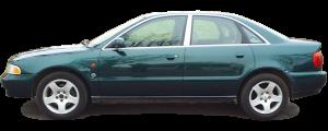 QAA - Audi A4 1996-2001, 4-door, Sedan (2 piece Stainless Steel Pillar Post Trim ) PP96624 QAA - Image 2
