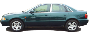 "QAA - Audi A4 1996-2001, 4-door, Sedan (8 piece Stainless Steel Rocker Panel Trim, Full Kit 7.125"" - 7.75"" tapered Width Spans from the bottom of the molding to the bottom of the door.) TH96626 QAA - Image 2"