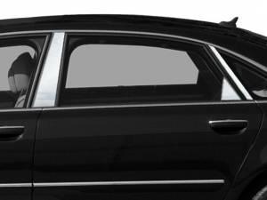 Chrome Trim - Pillar Trim - QAA - Audi A8 2004-2010, 4-door, Sedan (6 piece Stainless Steel Pillar Post Trim ) PP24621 QAA