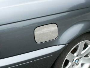 Chrome Trim - Fuel Door/Trim - QAA - BMW 3 Series 2001-2005, 2-door, 325Ci Coupe (1 piece Stainless Steel Gas Door Cover Trim Warning: This is NOT a replacement cap. You MUST have existing gas door to install this piece ) GC25900 QAA