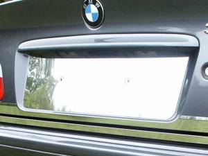 "Chrome Trim - License Plate Accents - QAA - BMW 3 Series 2001-2005, 2-door, 325Ci Coupe (1 piece Stainless Steel License Plate Bezel 6.33"" Width ) LP25900 QAA"