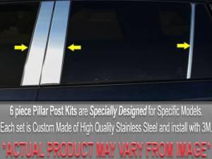 Chrome Trim - Pillar Trim - QAA - BMW 5 Series 1989-1995, 4-door, Sedan (6 piece Stainless Steel Pillar Post Trim ) PP89929 QAA