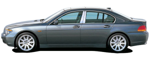 QAA - BMW 7 Series 2002-2008, 4-door, Sedan (4 piece Stainless Steel Pillar Post Trim Does NOT fit the LI Model ) PP25917 QAA - Image 2