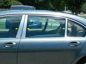 QAA - BMW 7 Series 2002-2008, 4-door, Sedan (6 piece Stainless Steel Pillar Post Trim Does NOT fit the LI Model ) PP25918 QAA