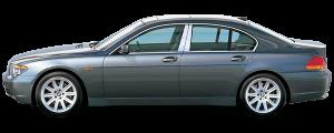 QAA - BMW 7 Series 2002-2008, 4-door, Sedan (6 piece Stainless Steel Pillar Post Trim Does NOT fit the LI Model ) PP25918 QAA - Image 2